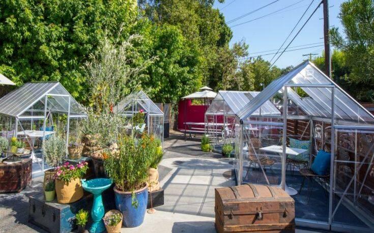 Δείπνο σε ιδιωτικά… θερμοκήπια για τους πελάτες σε εστιατόριο στο Λος Άντζελες