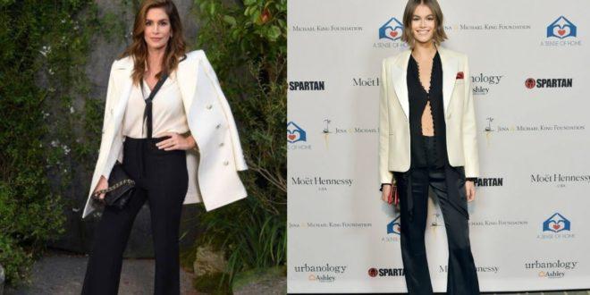 Σίντι ΚρόφορντκαιΚάια Τζόρνταν Γκέρμπερ: Ποια το φόρεσε καλύτερα; Μάνα ή κόρη; - BORO από την ΑΝΝΑ ΔΡΟΥΖΑ
