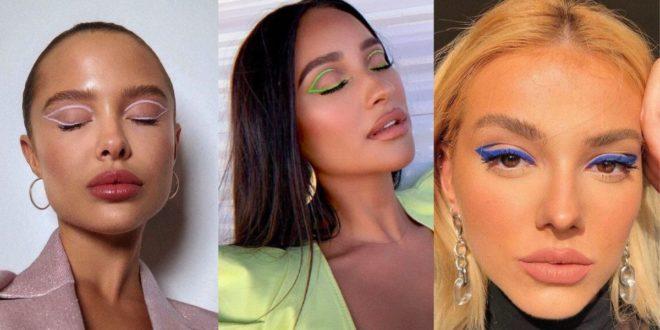 Τα χρωματιστά eyeliners της παράστασης Valentino Haute Couture ήταν η τάση μακιγιάζ του φετινού καλοκαιριού η οποία θα συνεχίσει να επικρατεί και φέτος το Χειμώνα - BORO από την ΑΝΝΑ ΔΡΟΥΖΑ
